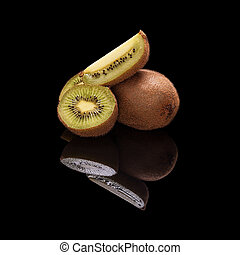 Bunch of kiwi fruit