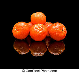 Bunch of mandarins