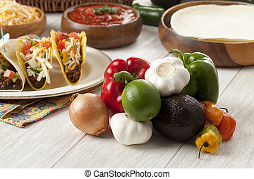 bunch of mexican vegetables
