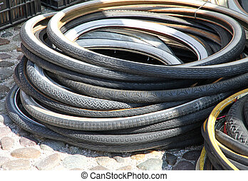 bunch of old bicycle tires for sale 2