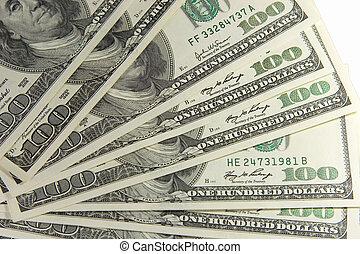 Bunch of one-hundred dollar bills