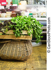 Bunch of parsley in a store