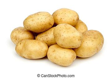 potato - bunch of potatoes on white background close up...