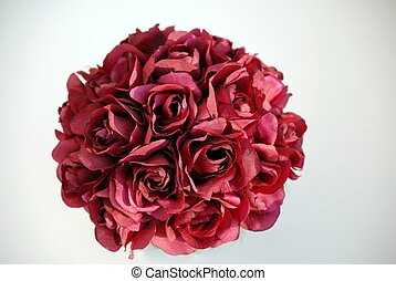 Bouquet of red roses in centerpiece