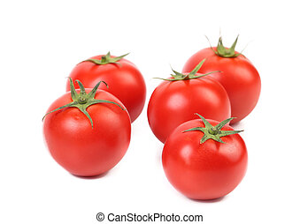 Bunch of red tomatoes.