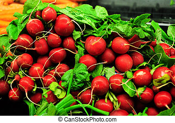 bunch of resh, whole red radishes