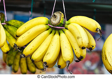 Bananas At A Street Market