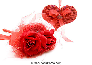 Bunch of roses with dear symbol