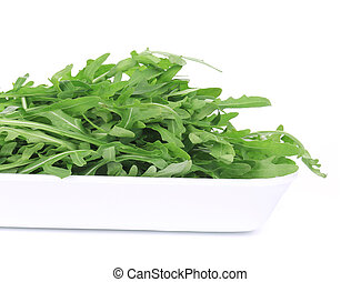 Bunch of ruccola close up.