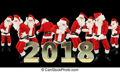 Bunch of Santa Claus Dancing, 2018 sign
