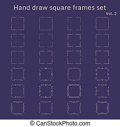 Bunch of simple and elegant square frames design templates.