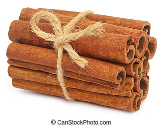 Bunch of some fresh aromatic cinnamon