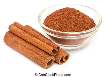 Bunch of some fresh aromatic cinnamon