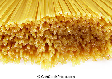 bunch of spaghetti - Close-up of bunch of transparent ...
