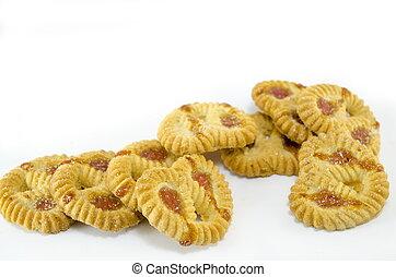 Bunch of tea cookies isolated - Bunch of tea cookies with ...