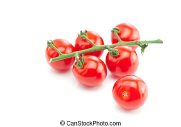 bunch of tomato isolated on white