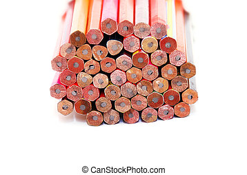 bunch of unsharpened pencils