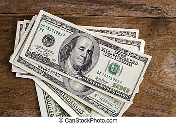 Bunch of US dollars as a background
