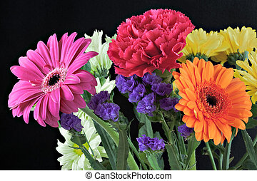 Bunch of vibrant flowers