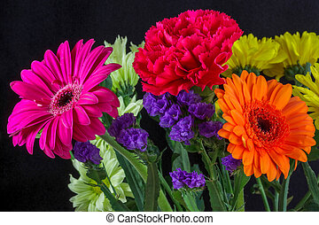 Bunch of Vivid Coloured Flowers