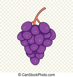 Bunch of wine grapes icon, cartoon style