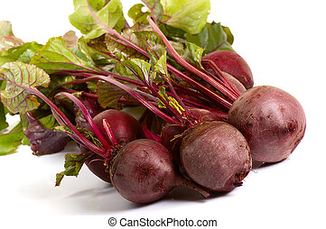 beet  - bunches of beet  isolated on white