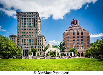 Buncombe County Courthouse and Asheville City Hall, in Asheville, North Carolina.