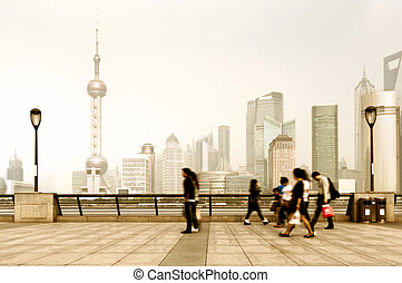 Bund in Shanghai, China - the bund of shanghai, China