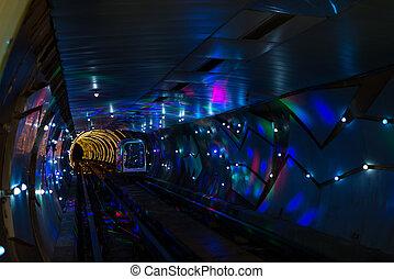 Bund Sightseeing Tunnel shanghai china - Bund Sightseeing...