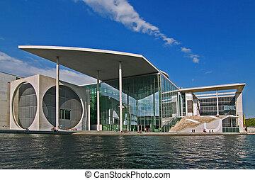 Bundeskanzleramt - Berlin Mitte: a wide angle view of the...