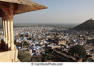Bundi Rajasthan - panoramic view over the city garanada