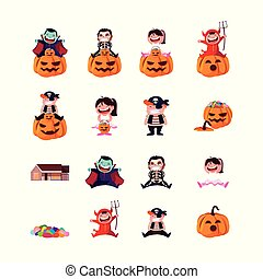 bundle halloween with children disguised