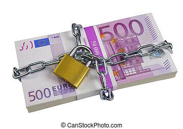 bundle of 500 Euro banknotes