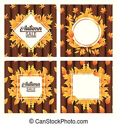 bundle of autumn sale seasonal labels