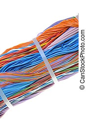 Bundle of cables with cable ties