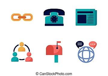 bundle of communication set icons