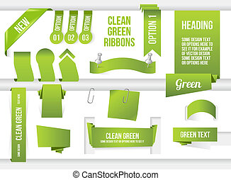 Bundle of Green Web Elements