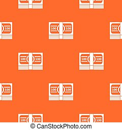 Bundle of money pattern seamless