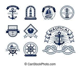 nine nautical icons