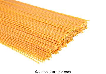 Bundle of raw spaghetti