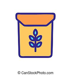 bundle of rice icon vector outline illustration