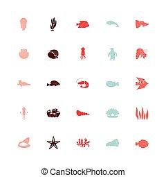 bundle of sealife set icons