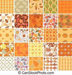 Bundle of Seamless autumn backgrounds