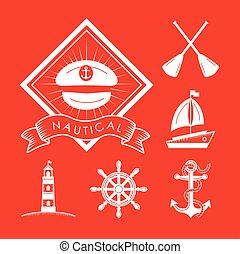 six nautical icons