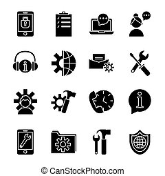 bundle of sixteen technical service set items