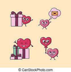 bundle of valentines day set icons