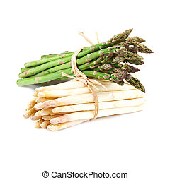 bundle of white and green asparagus - Bundle of White and...