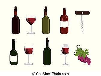 bundle wine with set icons