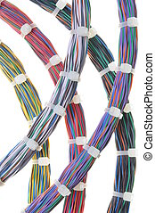 Bundles of network cables