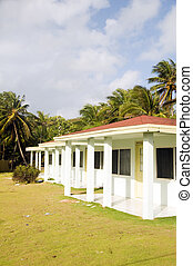 bungalow cabanas rental on Sally Peach beach Big Corn Island...